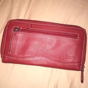 Tignanello red genuine leather wallet